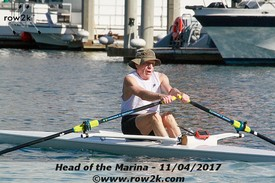row2k features: Rowing Blind Toward a Healthy Old Age