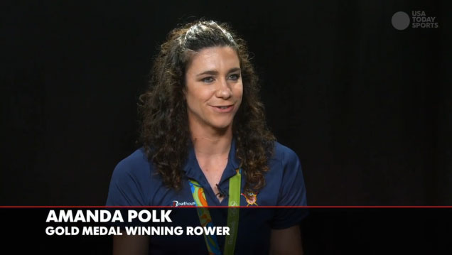Gold medal-winning rower Amanda Polk loves her Steelers