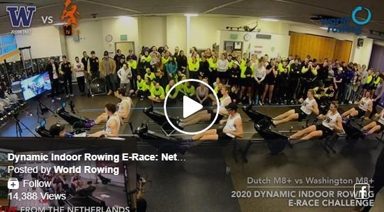 Dynamic Indoor Rowing E-Race: Netherlands vs Washington