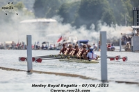 Harvard frosh racing into the chaos that is Henley on Saturday - Click for full-size image!