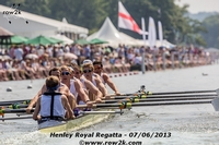Washington Varsity 8+ racing the Grand Challenge vs. the Polish men's eight. - Click for full-size image!