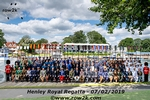 All 120 athletes, team and regatta officials pose for a photo together in front of the course during morning practice - Click for full-size image!