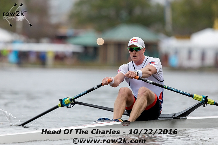 HOCR postrace, with Norway's Kjetil Borch and Ireland's O'Donovan brothers