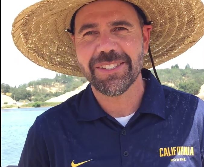 California Women's Rowing coach Al Acosta at the 2016 NCAA Rowing Championships