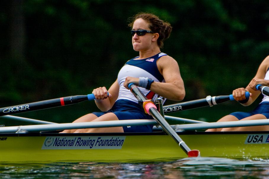 Ellen Tomek rowing
