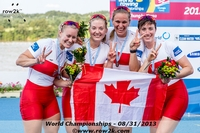 The CAN W4x was very excited following their silver medal win - Click for full-size image!