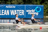 A mis-stroke 10 meters from the line by the NZL W2x cost them the championship by 0.04 seconds - Click for full-size image!