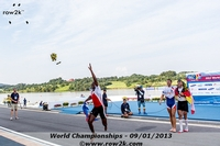 CUB M1x Angel Fournier Rodriguez won Cuba's first World Championship Medal, but I guess he doesn't like flowers - Click for full-size image!